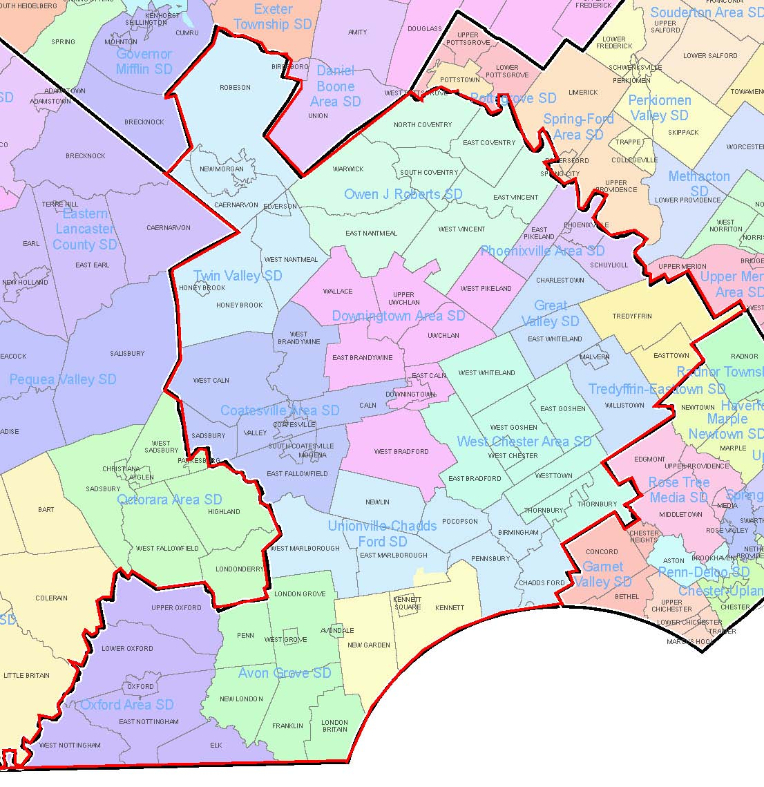 EIT Collection Districts Map - Chester County